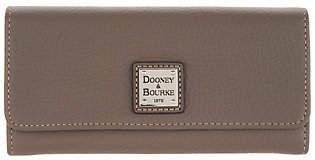 Dooney & Bourke Pebble Leather AccordionClutch Wallet