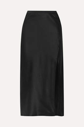 Anine Bing Dolly Silk-satin Midi Skirt