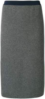 Thom Browne ペンシルスカート R/W/Bストライプ ボイルウールニット