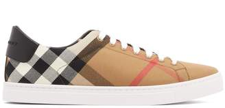 Burberry Check low-top canvas trainers