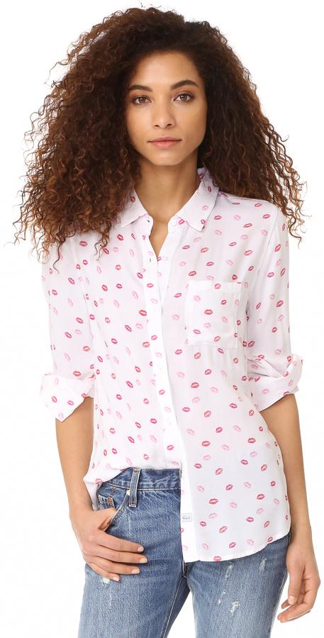 RAILS Rocsi Kiss Me Button Down Shirt