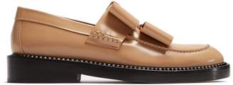 Marni Bow-detail leather loafers