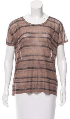 Inhabit Semi Sheer Short Sleeve Top w/ Tags