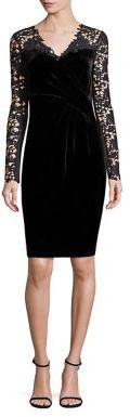 Elie Tahari Blakely Velvet & Lace Dress $498 thestylecure.com