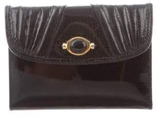 Judith Leiber Karung Micro Wallet Black Karung Micro Wallet