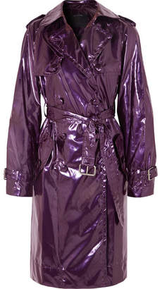 Marc Jacobs Metallic Vinyl Trench Coat - Purple
