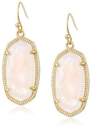 "Kendra Scott Signature"" Dani Gold plated Rose Quartz Drop Earrings"