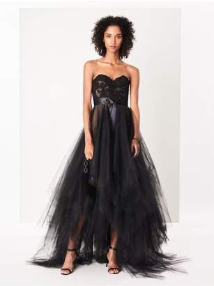 Oscar de la Renta Corded Lyon Lace And Tulle Gown