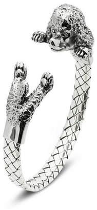 Poodle Hug Bracelet in Sterling Silver