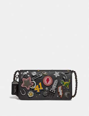 Coach Dinky With Signature Canvas Detail And Souvenir Pins