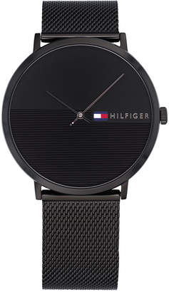 Tommy Hilfiger Men's Black Mesh Bracelet Watch 40mm, Created for Macy's