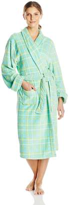 Intimo Women's Ladie's Printed Corel Robe