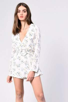 Glamorous Petites Womens **Floral Belted Playsuit By
