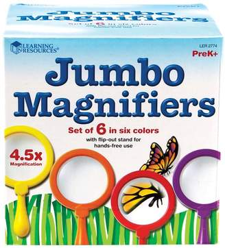Learning Resources Primary Science Jumbo Magnifiers 6-piece Magnifying Glass Set