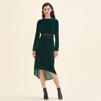 Maje Long dresse in velvet