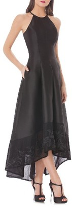 Women's Carmen Marc Valvo Infusion High/low Mikado Gown $398 thestylecure.com