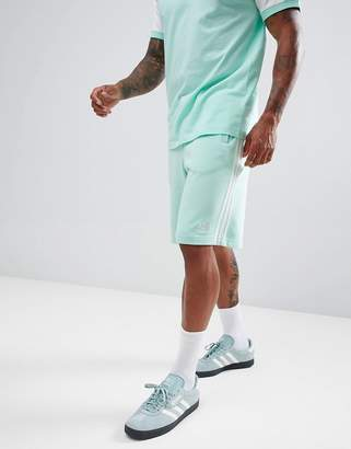 adidas 3-Stripe Jersey Shorts In Green DH5797