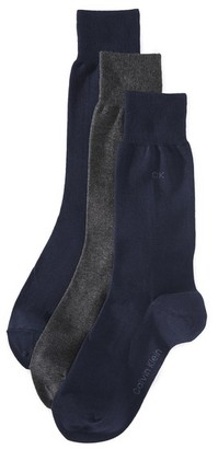 Calvin Klein Underwear 3 Pack Combed Flat Knit Crew Socks $22 thestylecure.com