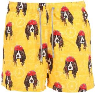 MC2 Saint Barth Gustavia Dogs Microfiber Swim Shorts