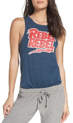 Women's Chaser David Bowie Rebel Rebel Lounge Muscle Tank $58 thestylecure.com