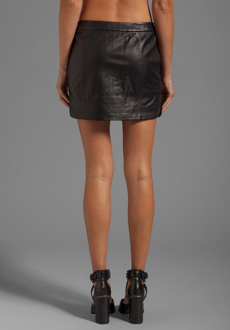 Alexander Wang Lightweight Leather Mini Skirt