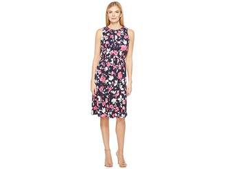 Ellen Tracy Smocked Self-Tie Dress Women's Dress