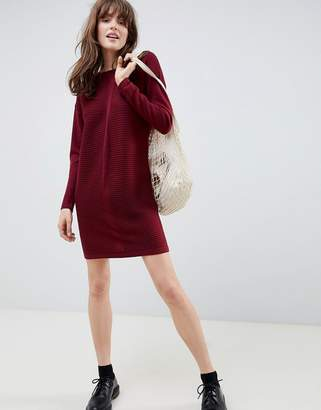 Asos Design DESIGN Eco Knitted Mini Dress In Ripple