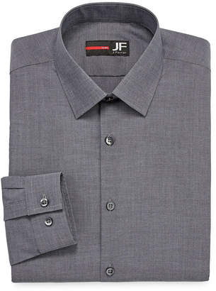 Jf J.Ferrar Easy-Care Stretch Long Sleeve Broadcloth Dress Shirt