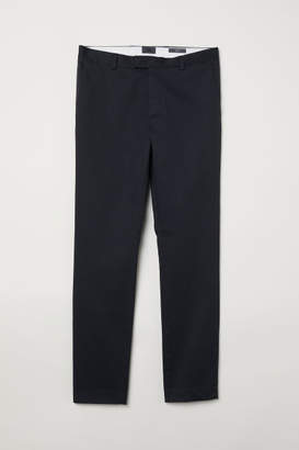 H&M Cotton Chinos Slim fit - Gray
