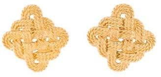 Saint Laurent Twisted Knot Clip-On Earrings