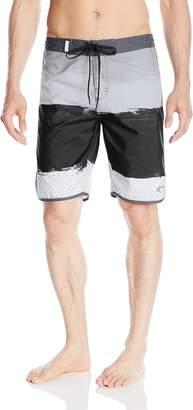 Trunks Teal Cove Men's Dylan Printed Scalloped Short