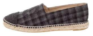 Chanel Plaid CC Espadrilles