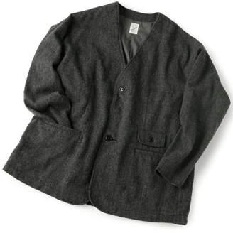Men's Bigi (メンズ ビギ) - ADITIONAL ノーカラージャケット/ツイード メンズ ビギ コート/ジャケット