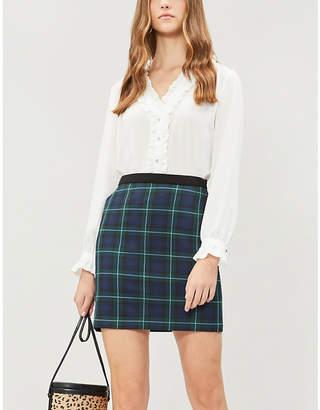 Claudie Pierlot Frilled-trim crepe shirt
