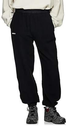Vetements Men's Angel-Charm Cotton-Blend Inside-Out Sweatpants - Black