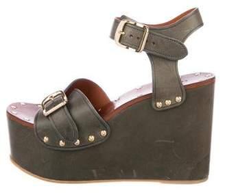 Celine Platform Wedge Sandals
