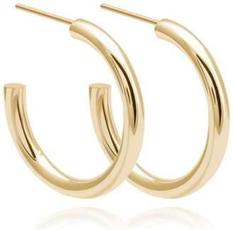 Astrid & Miyu - Basic Large Hoop Earrings In Gold