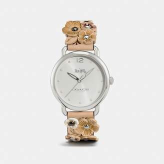 Coach New YorkCoach Delancey Watch With Floral Applique, 36Mm