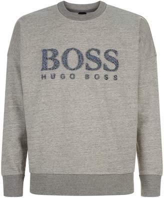 BOSS ORANGE Textured Logo Sweatshirt