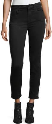 7 For All Mankind Jen7 By Skinny Ankle Jeans w/ Sequin Tuxedo Stripe