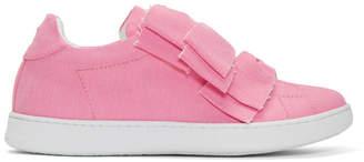 Joshua Sanders Pink Denim Knot Bow Sneakers