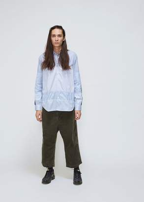 Comme des Garcons Homme Stripe Twill Mix Shirt