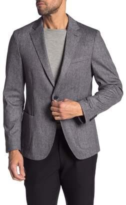 14th & Union Melange Extra Trim Fit Knit Blazer