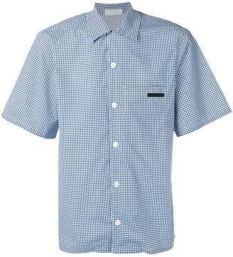 Prada geometric print bowling shirt
