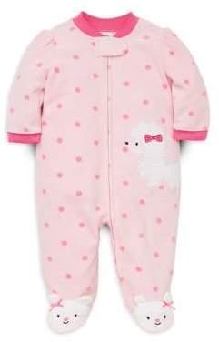 Little Me Baby Girl's Poodle Fleece Footie