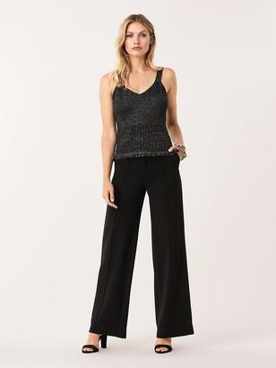 Diane von Furstenberg Binx Metallic-Wool Tank