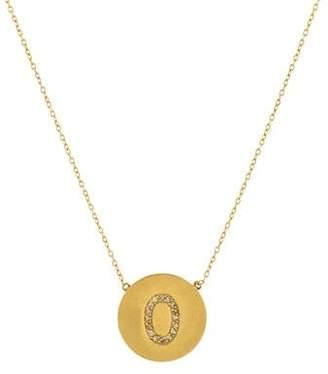 Jennifer Meyer 18K Diamond Initial O Pendant Necklace