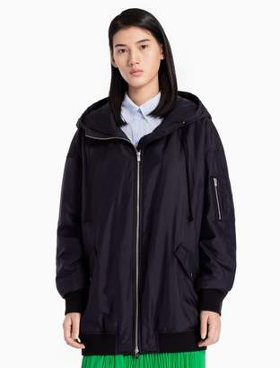 Calvin Klein nylon silk padded hooded jacket