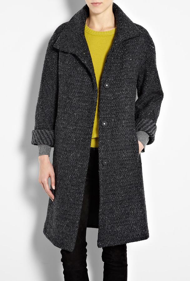 Farhi by Nicole Farhi Striped Tweed Coat