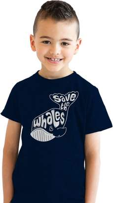 Crazy Dog T-shirts Crazy Dog Tshirts Youth Whale Tail Save the Whales T Shirt funny animal tee for kids M